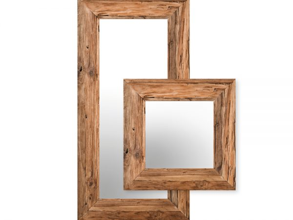 MIRROR OLD TEAK MEDIUM