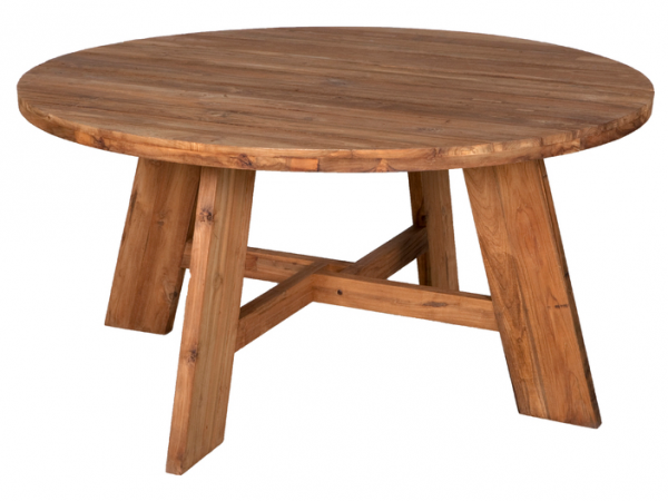 RECYCL.TEAK TABLE RONDO